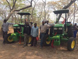 Passent Chizooma and Ezekia Siakasili, with Amatheon Agri Outgrower Manager Simangaliso Mangena